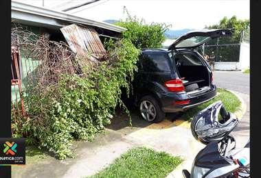 Colisión de vehículos en Santa Ana