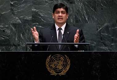 El presidente de la República, Carlos Alvarado.