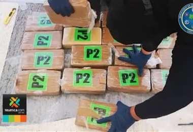 Policía de Control de Drogas capturó una tripulación costarricense con cargamento de droga