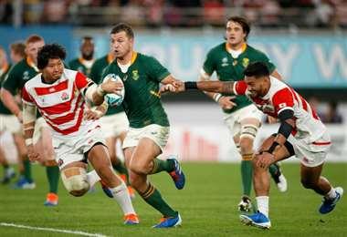 Sudáfrica venció a Japón en el Mundial de rugby - AFP