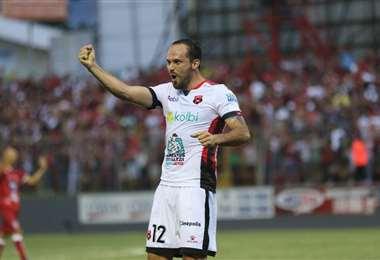Marco Ureña celebra su gol en Guápiles | CORTESÍA PRENSA LDA