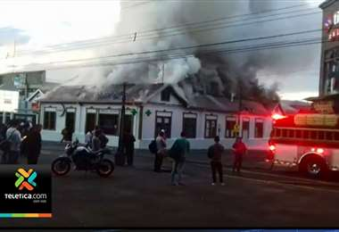 Incendio farmacia de Cartago
