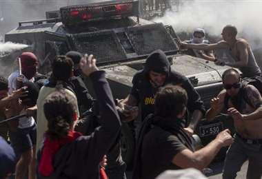 Fuertes protestas en Chile