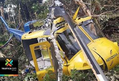 Recuperar helicóptero accidentado en Alto Telire será una labor complicada