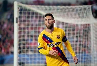 Lionel Messi celebra su gol con el Barcelona | UEFA.COM