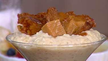Receta: arroz con leche de frutos rojos, naranja y caramelo