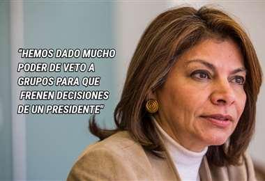 Expresidenta de la República Laura Chinchilla