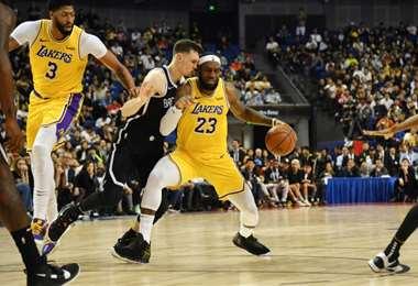 Lebron James de Los Angeles Lakers en la NBA | AFP