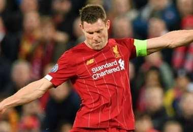 James Milner del Liverpool. AFP