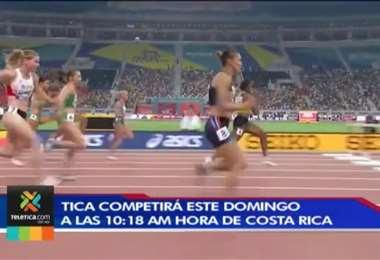 Andrea Vargas clasifica a la semifinal de los 100 metros con vallas y rompe récords