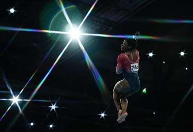 Simone Biles, gimnasta estadounidense   AFP