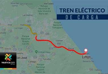 Proyecto pretende llevar servicio de tren eléctrico de Limón a San Carlos.