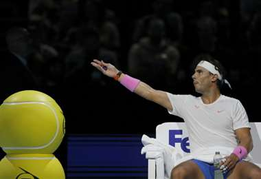 Rafael Nadal durante el Masters 1000 de Londres | AFP