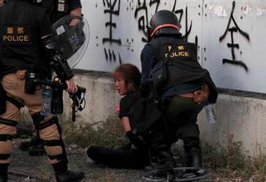 La violencia en Hong Kong