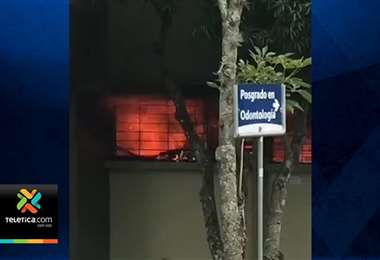 Bomberos investigan si incendio ocurrido en la UCR fue provocado