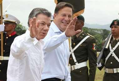 Juan Carlos Varela  y Manuel Santos