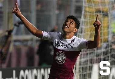 Johan Venegas celebra su gol | PRENSA SAPRISSA