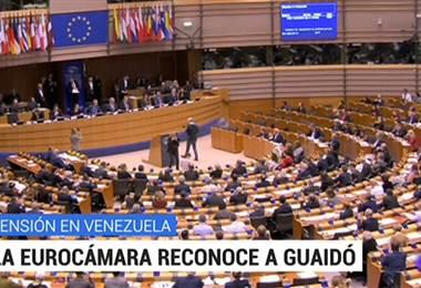Parlamento Europeo reconoció a Juan Guaidó como presidente interino de Venezuela