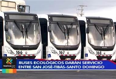Usuarios de rutas entre San José-Tibás y Santo Domingo de Heredia viajarán en buses ecológicos