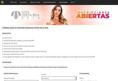 Ya están abiertas las inscripciones de Miss Costa Rica 2019