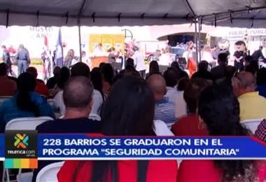 """228 barrios se graduaron en el programa """"Seguridad Comunitaria"""""""