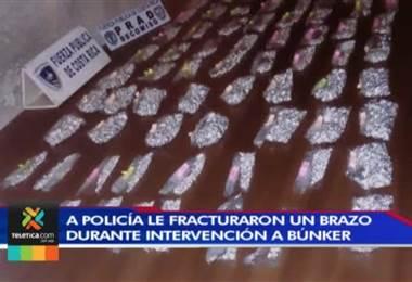 Dos policías de la Fuerza Pública resultaron heridos tras una intervención en búnker en Desamparados