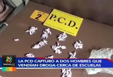 La PCD capturó a dos hombres que vendían droga cerca de escuelas en Alajuela