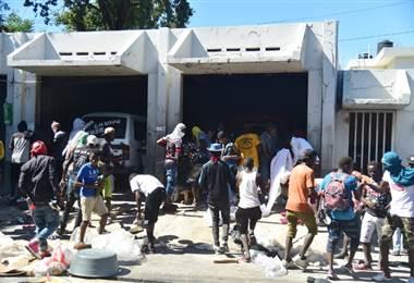 Manifestaciones en Haití. AFP
