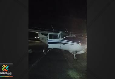 Autoridades detienen avioneta con tres extranjeros, arma de fuego y varios bultos en Pococí