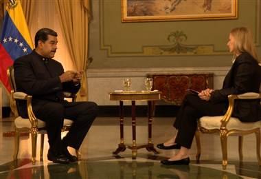Maduro en entrevista con la BBC