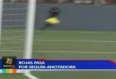 Roger Rojas tiene la pólvora mojada y ya acumula cinco fechas sin anotar