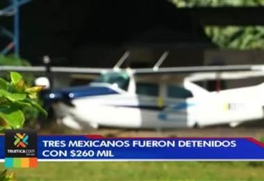 Fiscalía y la PCD investigan antecedentes de los tres mexicanos detenidos en aeronave en Pococí