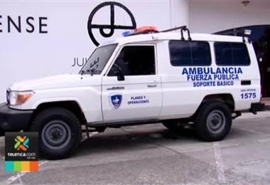 Ministerio de Seguridad tiene ambulancia para atender policías