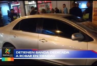 Policía detuvo a una presunta banda de ladrones que atacaba comercios de San José