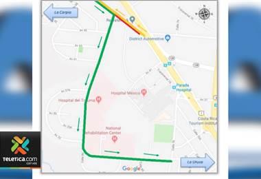A partir de hoy habrá cierre parcial en la vía que pasa frente al AM PM en La Uruca.