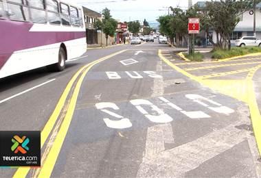 Autoridades de transportes valoran la implementación del carril exclusivo de buses en Guadalupe.
