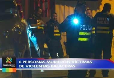 Seis personas murieron víctimas de violentas balaceras este sábado
