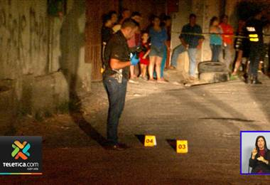 De varios disparos asesinaron a un hombre la noche de este domingo en Alajuela.
