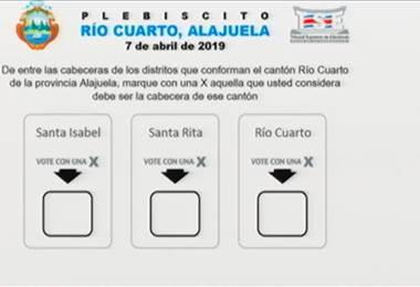 Avanzan trámites para plebiscito en Río Cuarto de Alajuela
