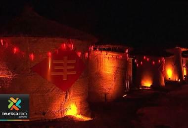 Con un espectáculo de luces celebraron el Festival de Faroles en China