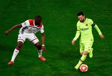 El atacante argentino Lionel Messi   Facebook UEFA Champions League.