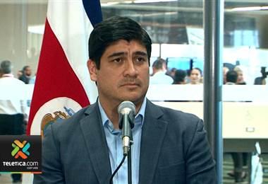 Carlos Alvarado no quiso referirse más al tema de la exministra de salud Guiselle Amador