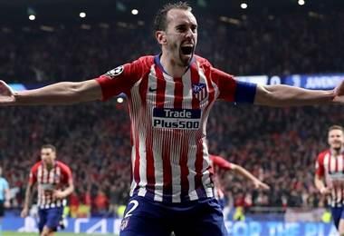 Diego Godín anotador del Atlético de Madrid