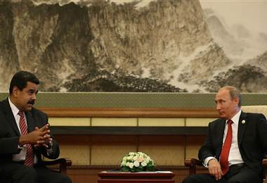 Nicolás Maduro y Vladimir Putin. BBC Mundo.