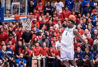 Zion Williamson, jugador de Duke.