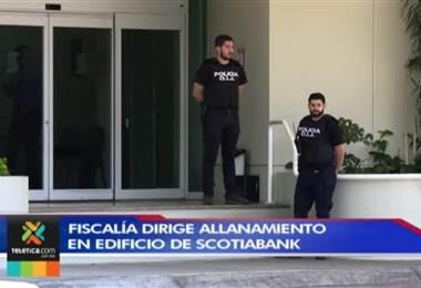 Fiscalía allana el Scotiabank por el caso de legitimación de capitales contra expresidente del Perú