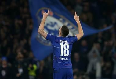 Olivier Giroud, delantero francés del Chelsea |Facebook UEFA Europa League,