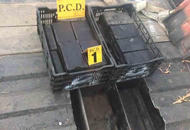 PCD decomisó cargamento de cocaína oculta en camión