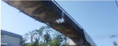 Puente dañado en ruta 32 Pocora