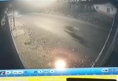 Vídeo choque de motos